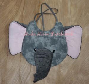 January 2015 TC - Make Mine Patchwork Elephant Bib