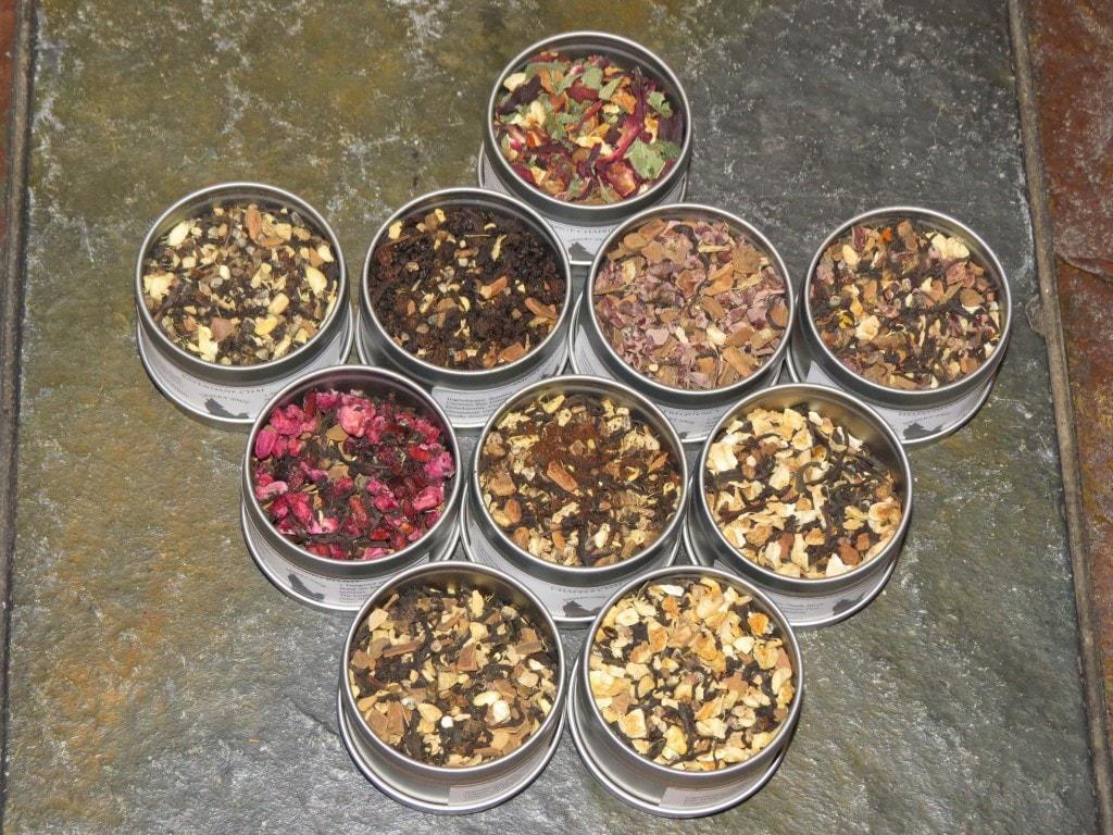 Chai Tea Samples on Stone