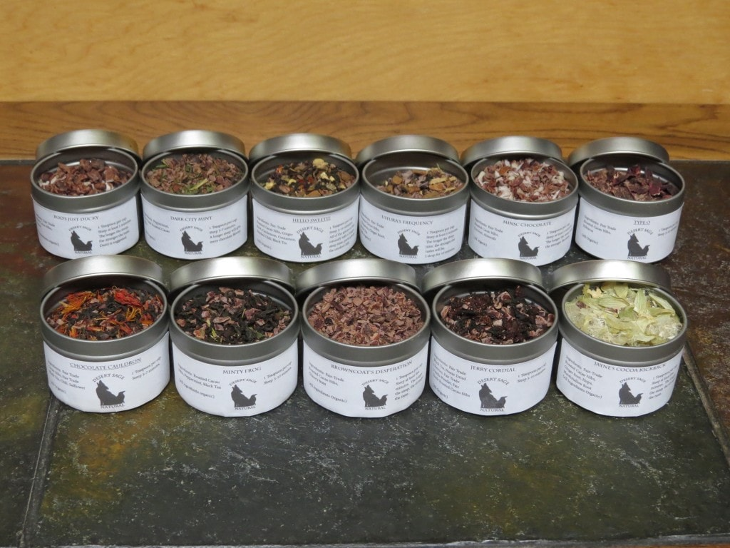 All Chocolate Tea Samples
