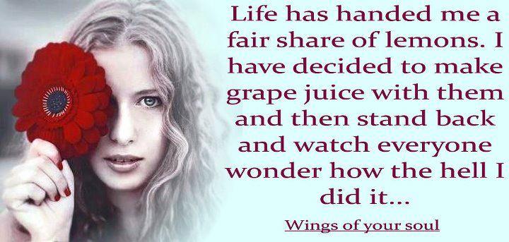 Life lemons to grapes